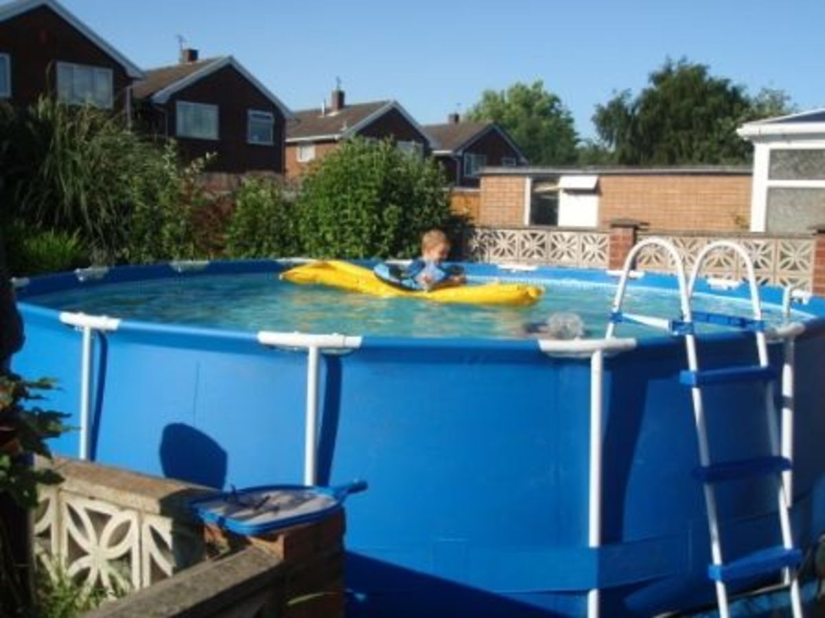 Our above-ground frame pool