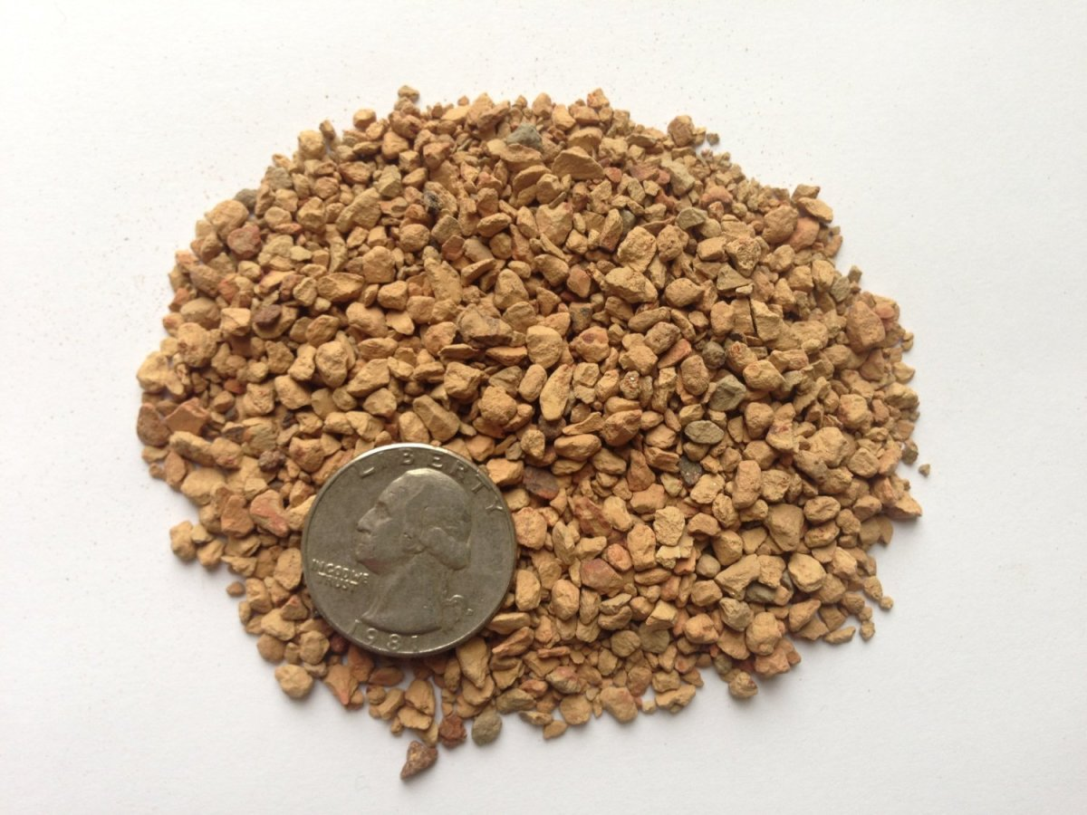 Turface, very similar to akadama, is also a high fired clay. Notice the size comparison next to a quarter.