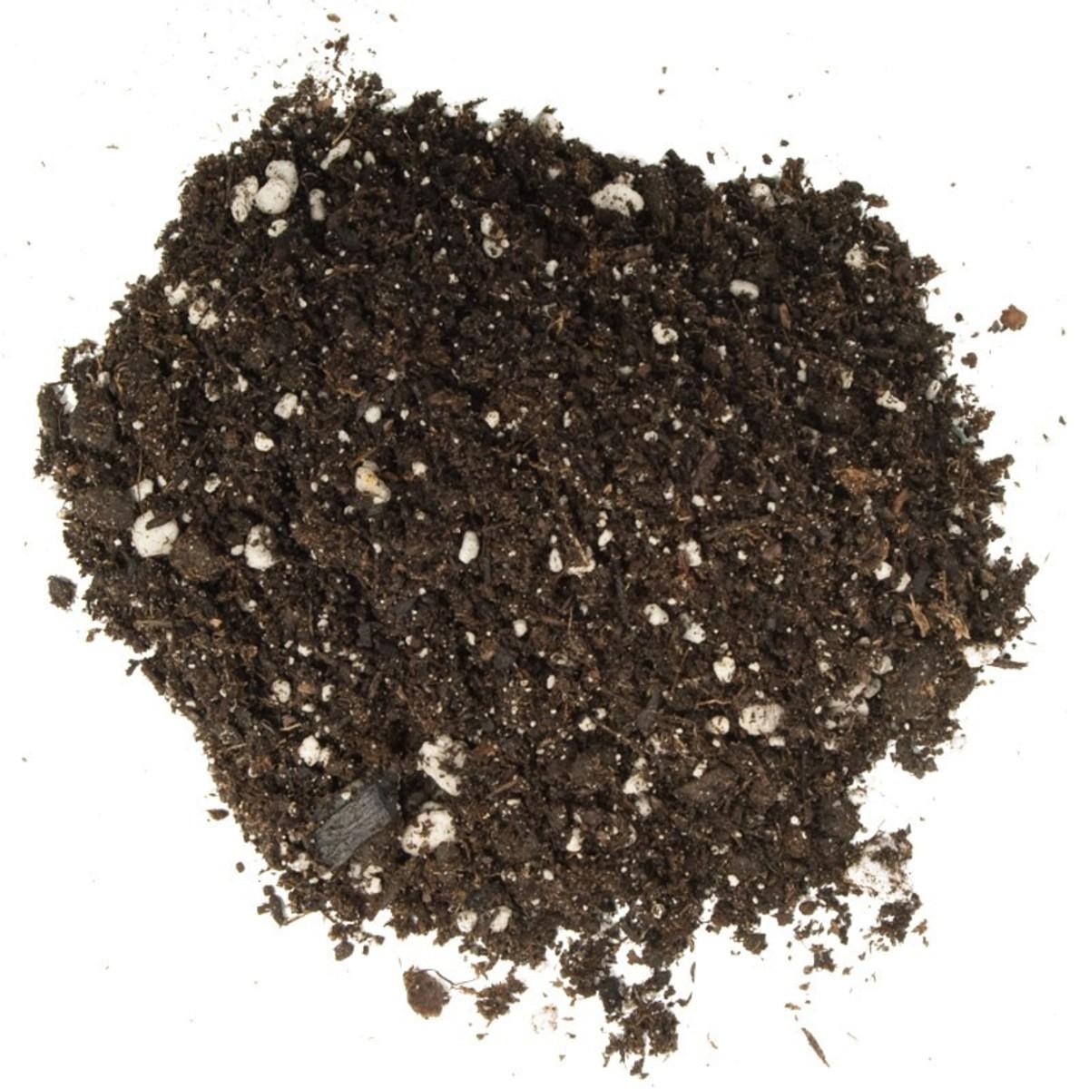 Potting soil.