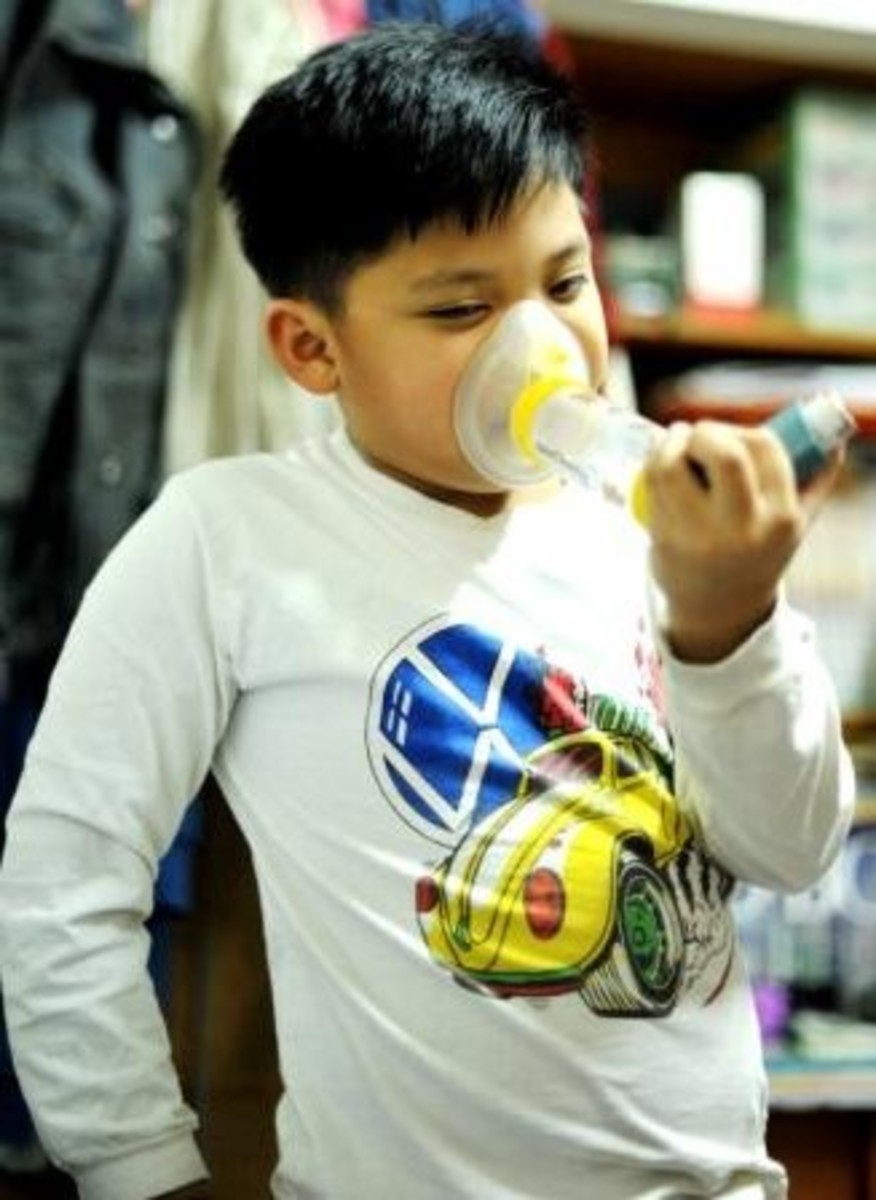 My son when dealing with asthma