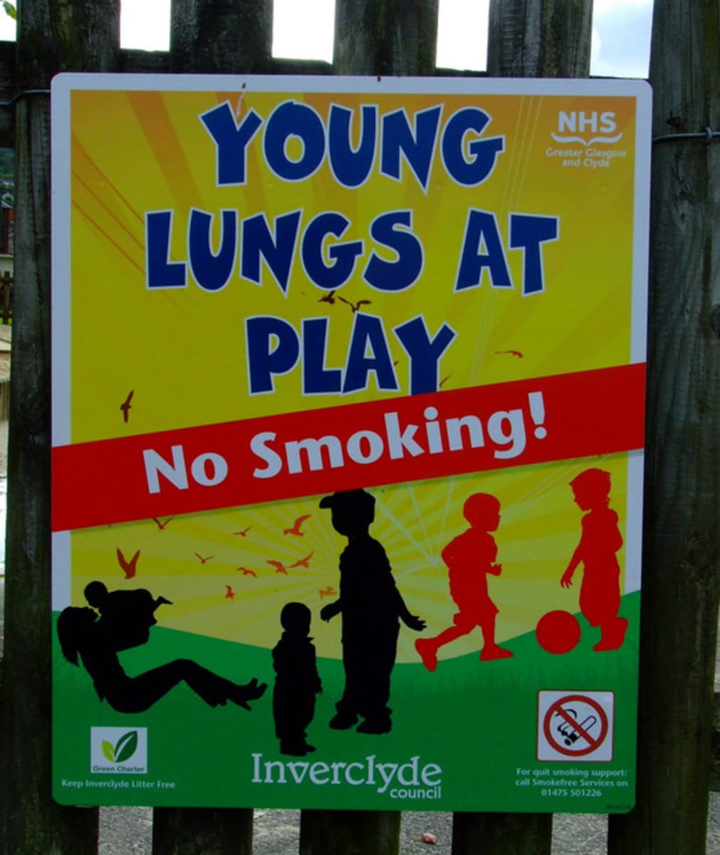 Inverclyde Council was the first in the UK to designate some play parks as no smoking areas.