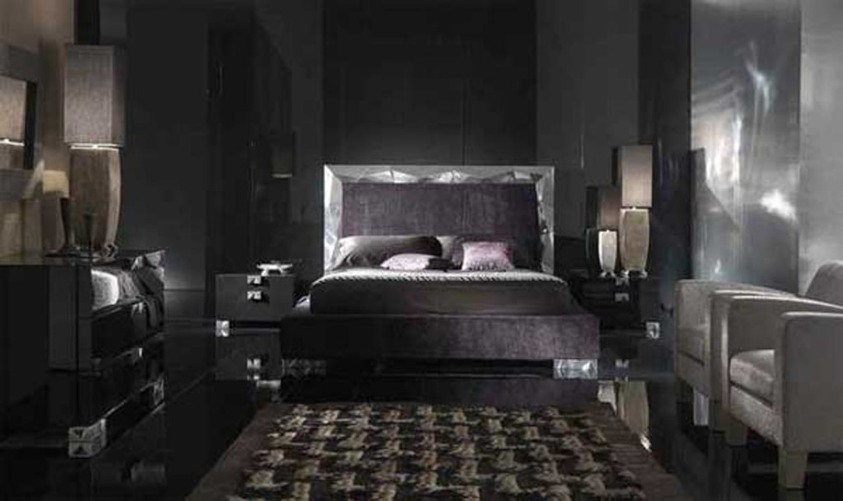 Espresso bedroom furniture often looks like black but it's really a dark brown finish.