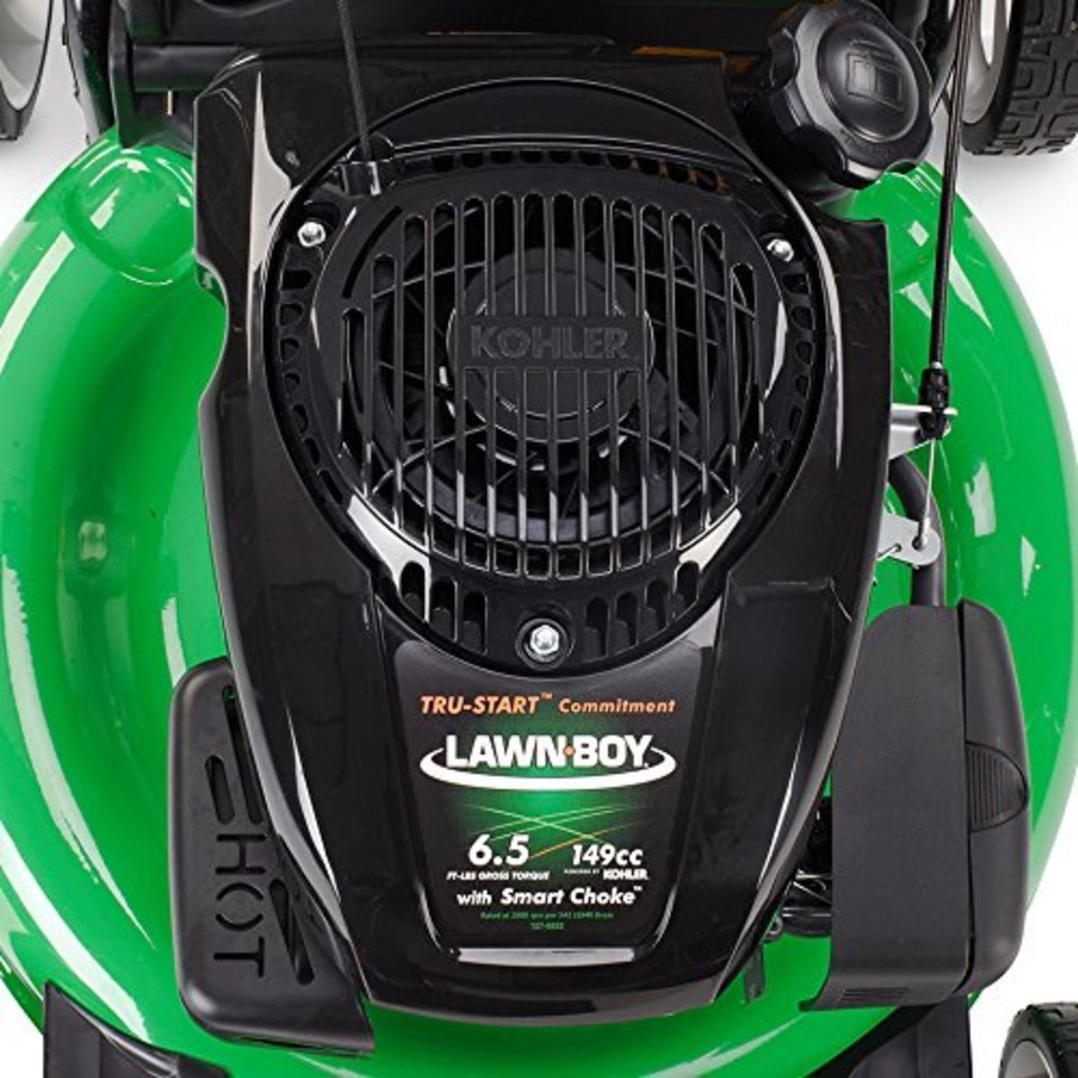 Lawn-Boy 10734 mowers are powered by Kohler engines which provide both power and reliability.  The Lawn Boy can be started up with just the turn of a key, making it easy and convenient to use.