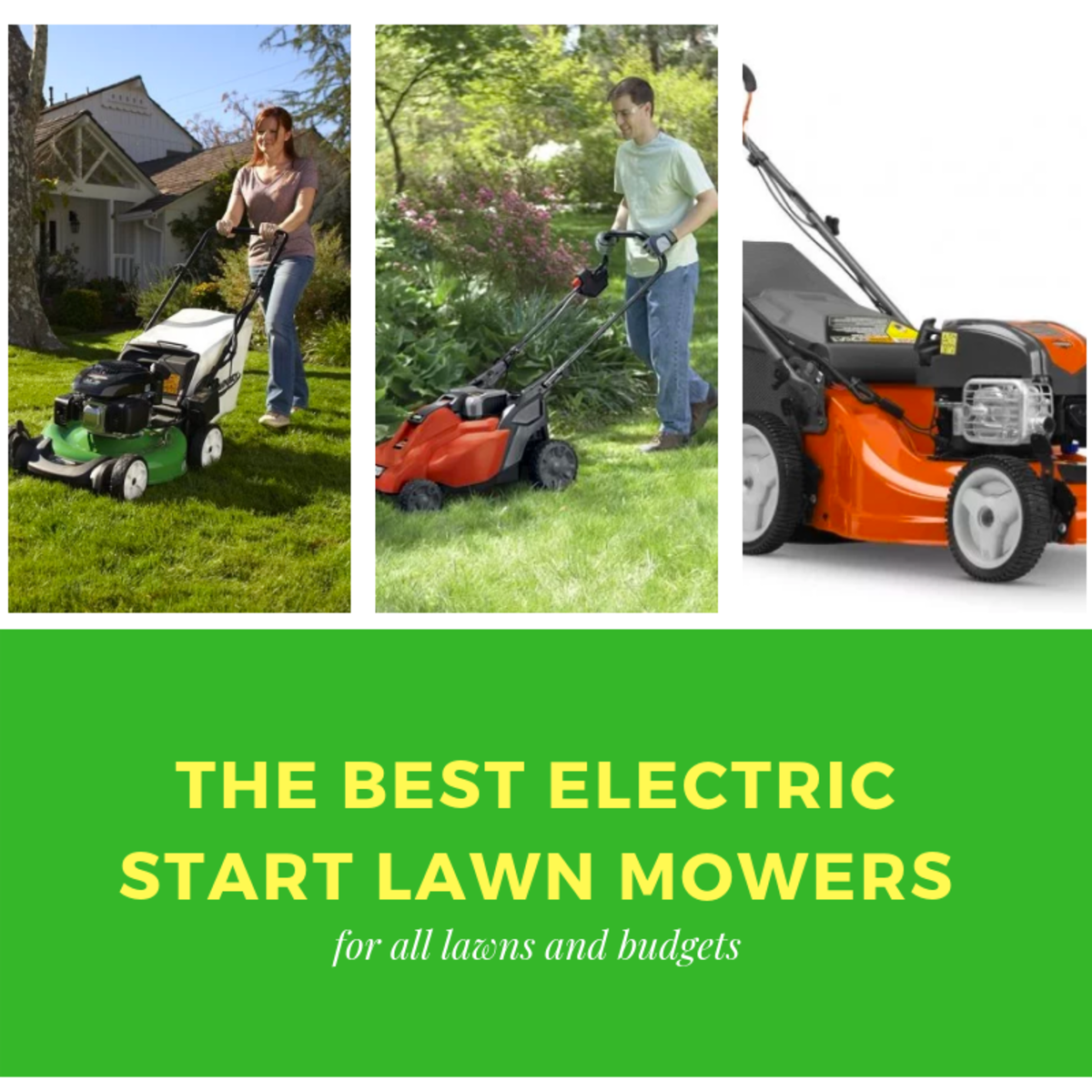 Top 3 Best Electric Start Lawn Mowers 2019 | Dengarden