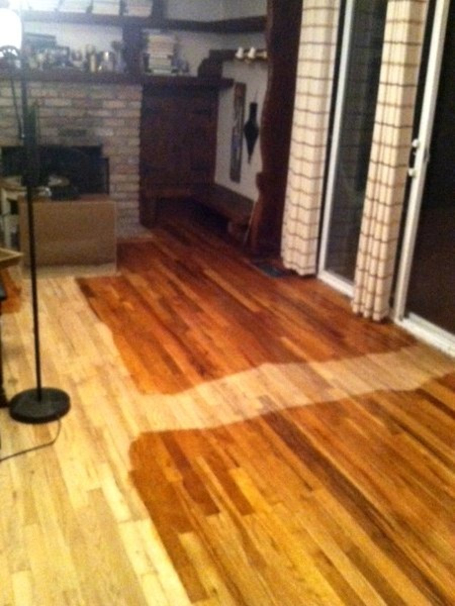 How to stain a hardwood floor in 5 steps dengarden for Staining hardwood floors
