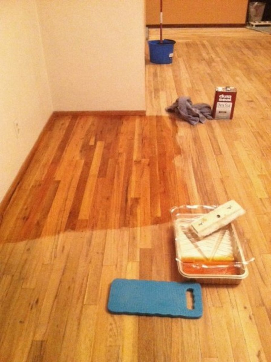 How to stain a hardwood floor in 5 steps dengarden for Hardwood floors stain colors