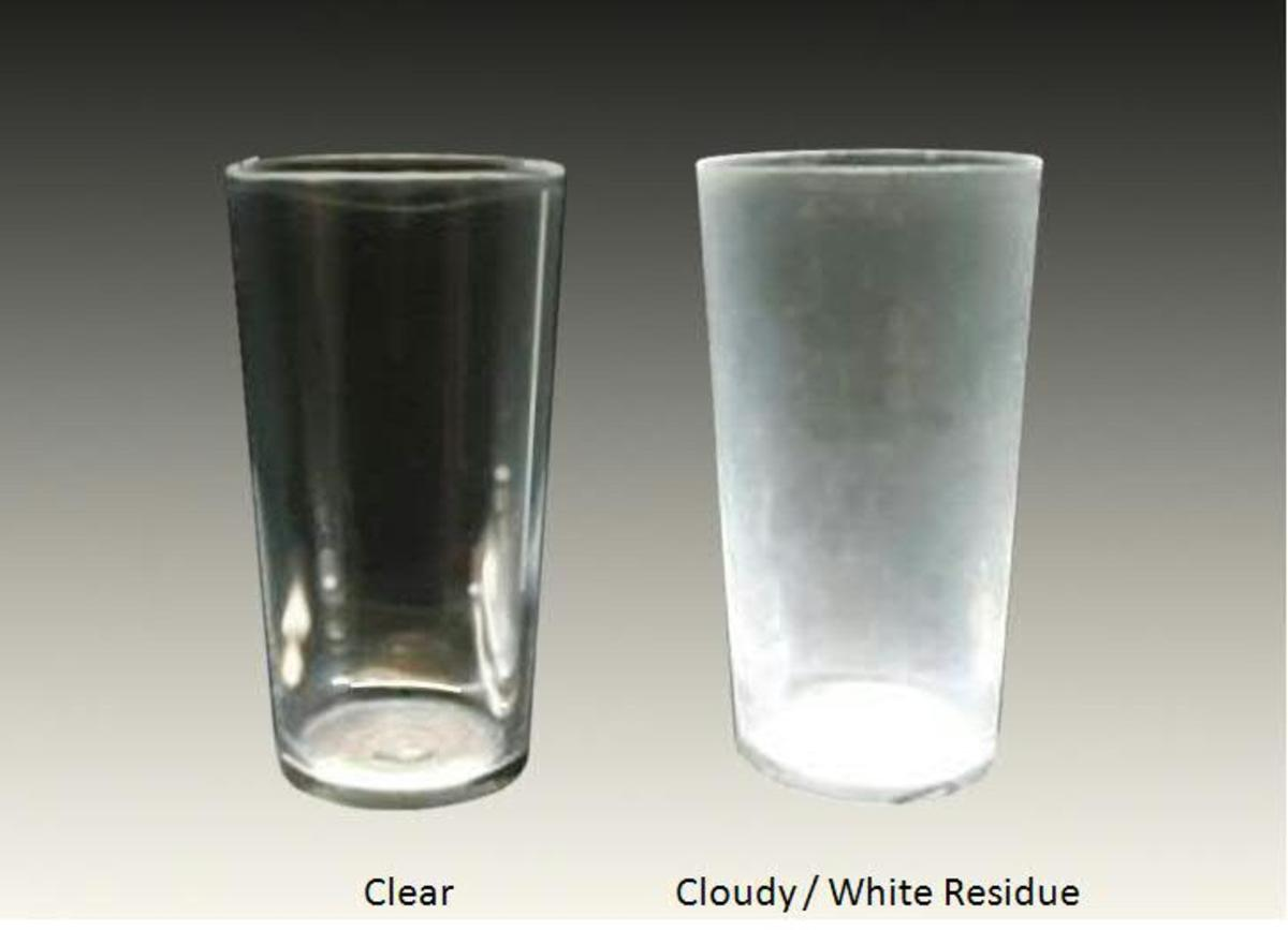 When your glasses like these come out cloudy, it's time to check if you have minerals in your water.