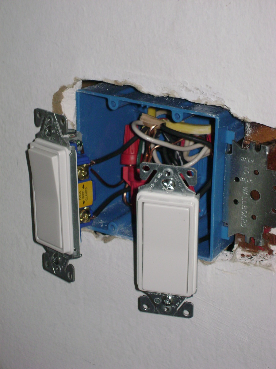how to move a light switch or electric outlet dengarden two light switches fit in a two gang outlet box