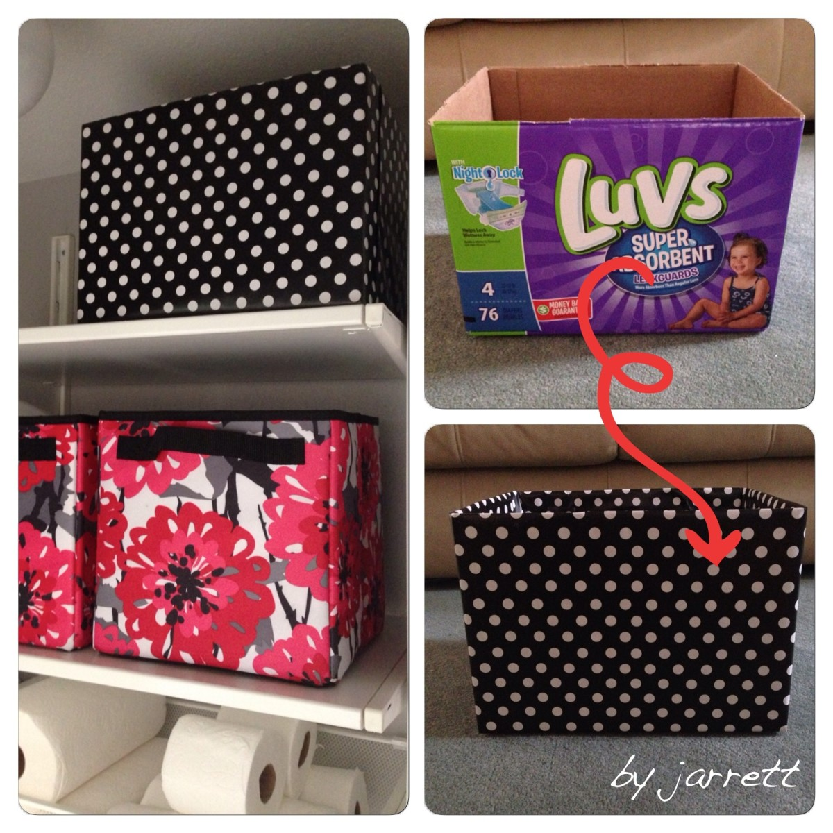 How to Repurpose Diaper Boxes for Home Storage