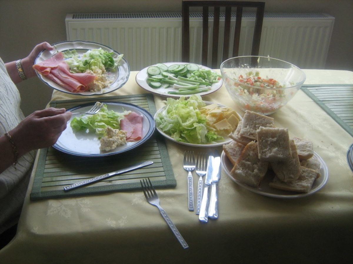 Homemade Coleslaw and Salad