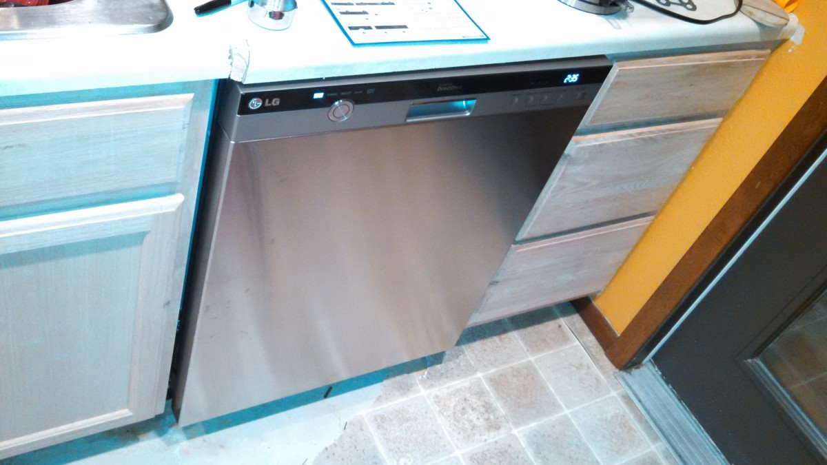 The LG dishwasher installed in my house- it only worked for a few days...