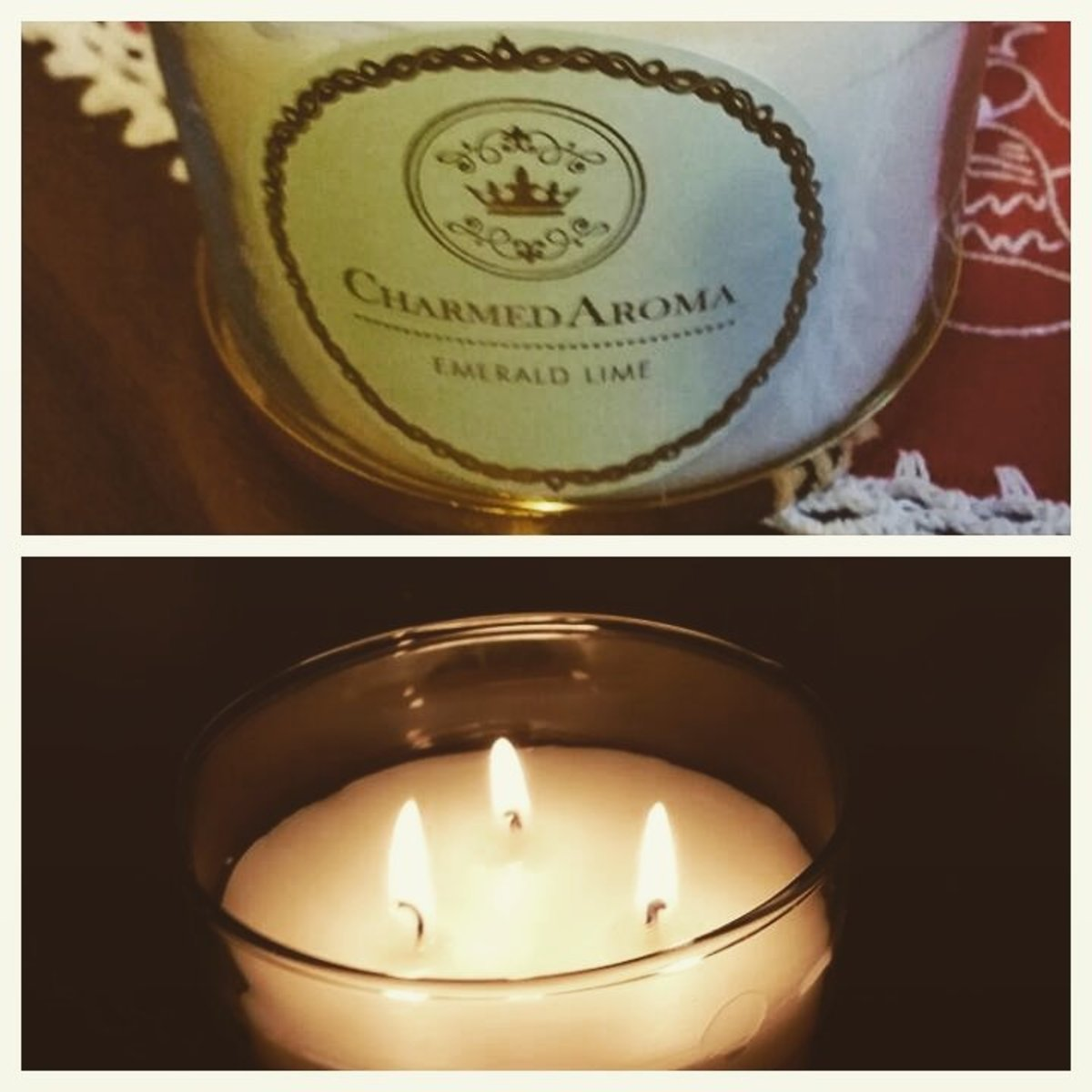 My charmed aroma candle