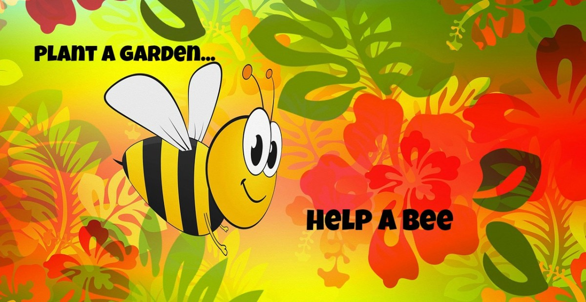 You can help save the bees by planning a garden and buying organic.