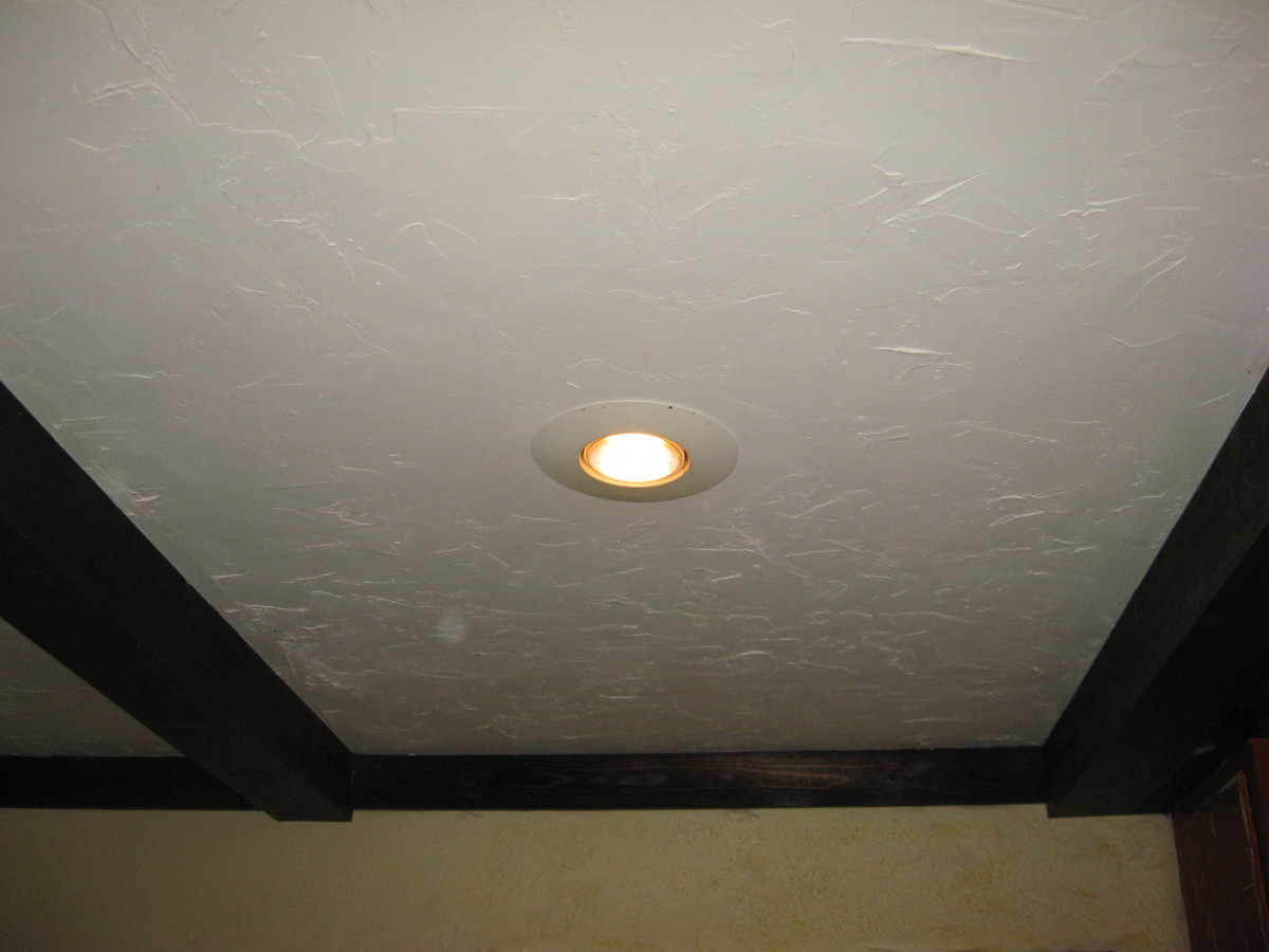 Recessed lighting is a great choice for small rooms.