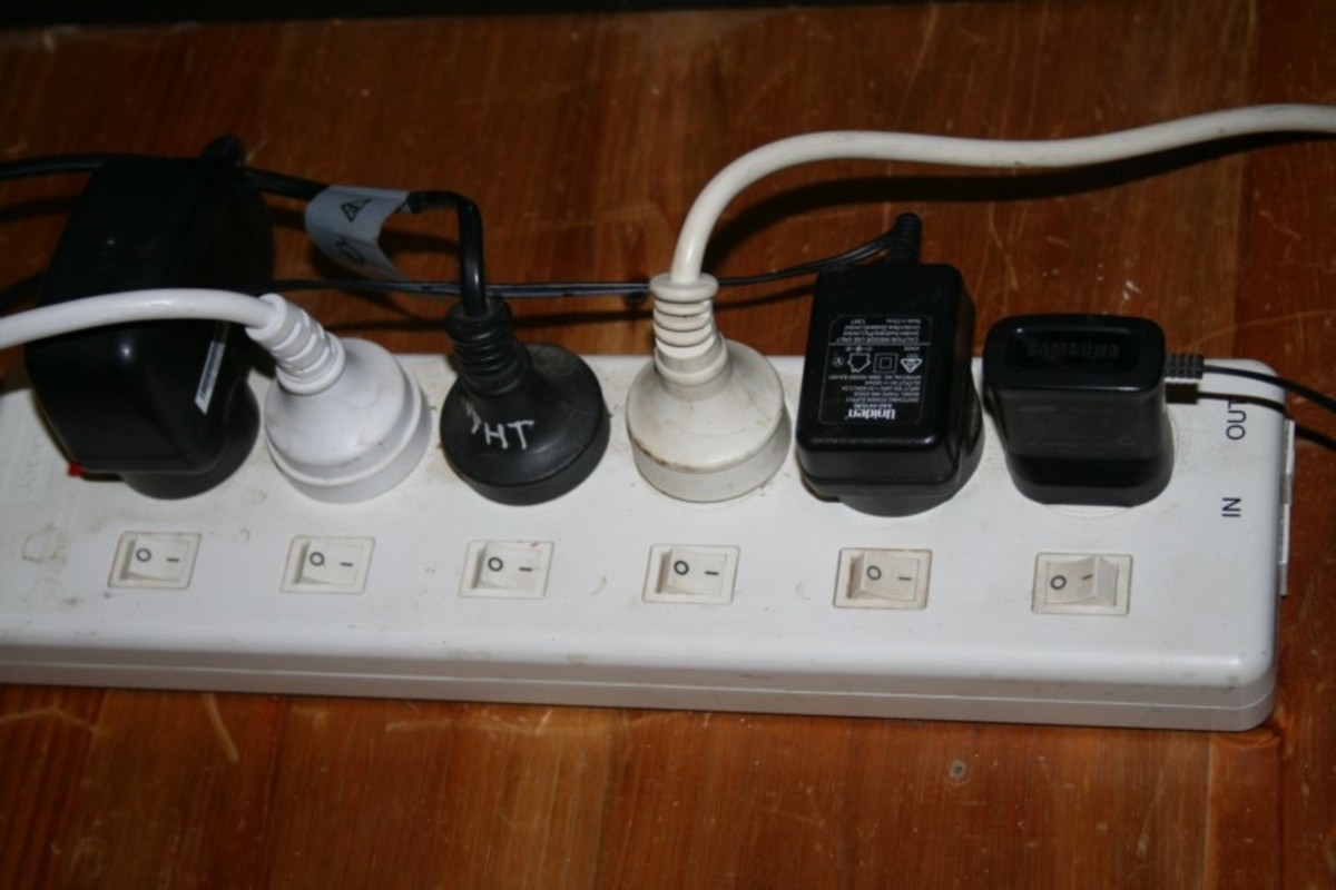 The most simple type of power board for distributing power from a generator. Run power indoors via heavy duty extension cord, then turn appliances on and off individually. (Label them if necessary.)