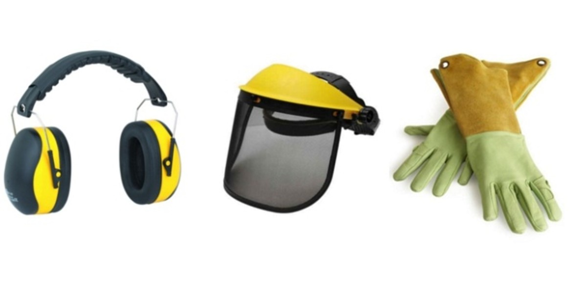 Some Hedge Trimming Safety Gear