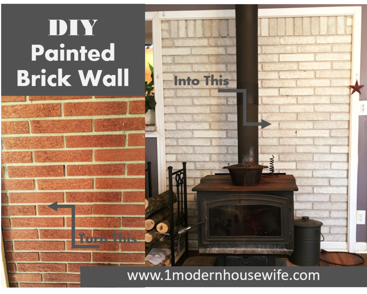 DIY: How to Paint a Brick Fireplace