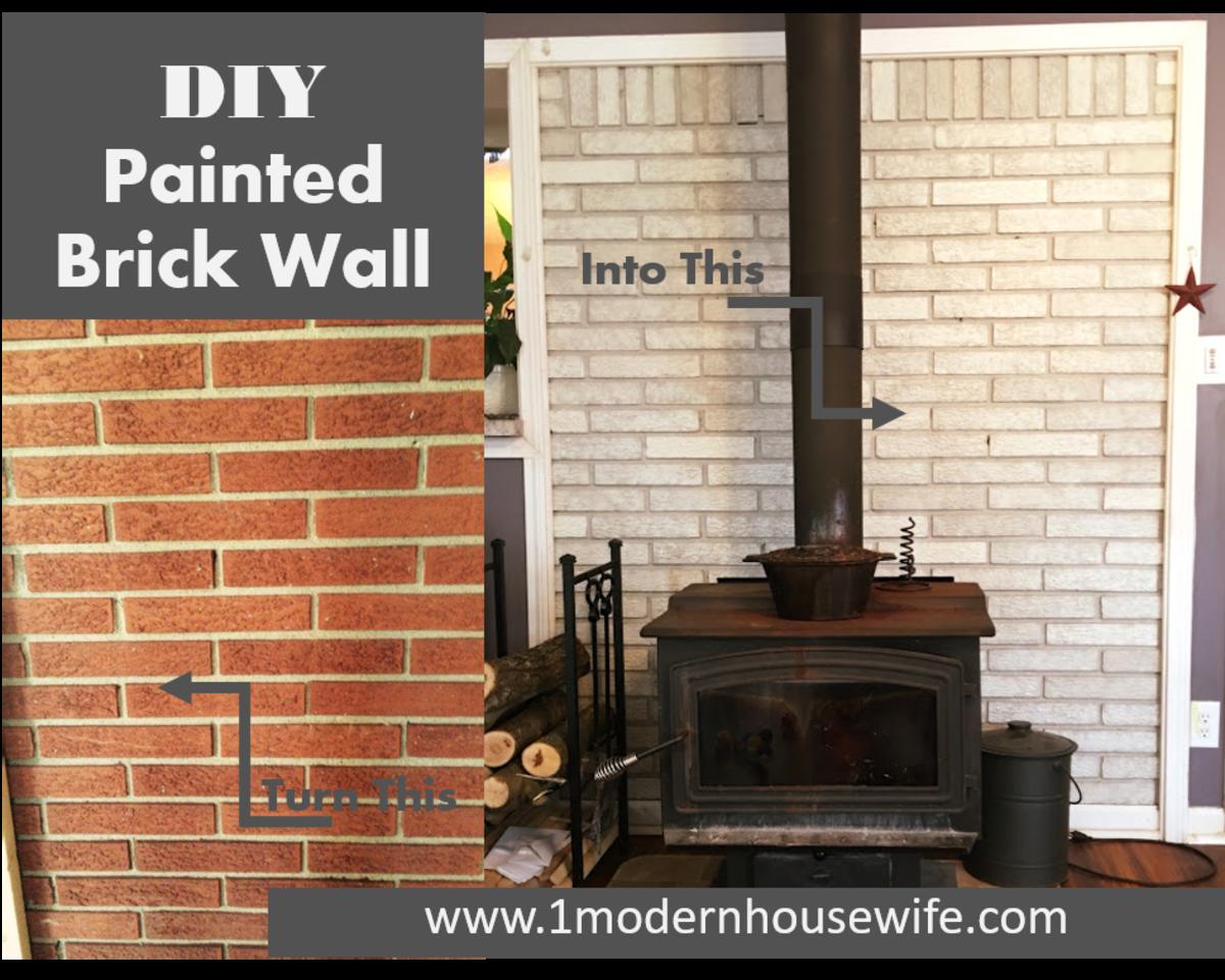 Diy How To Paint A Brick Fireplace Dengarden