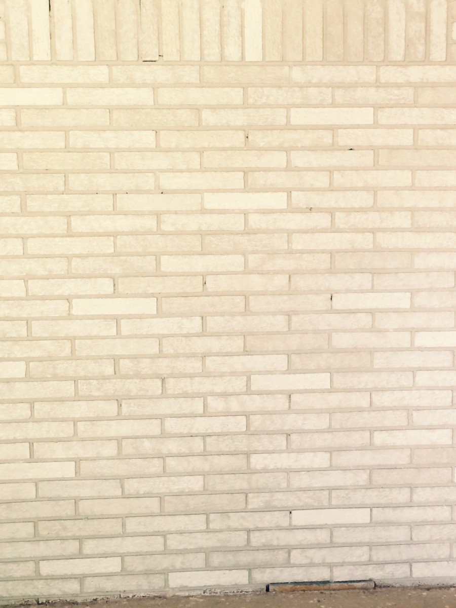 DIY Painted Brick Wall
