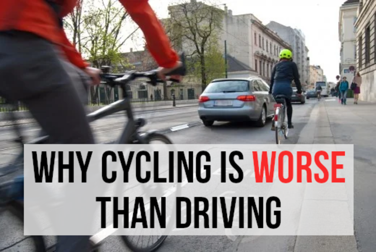 Read on for my list of reasons for why cycling is worse than driving...