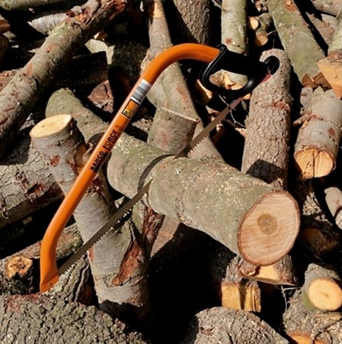 how-to-get-great-exercise-cutting-logs-with-a-bow-saw
