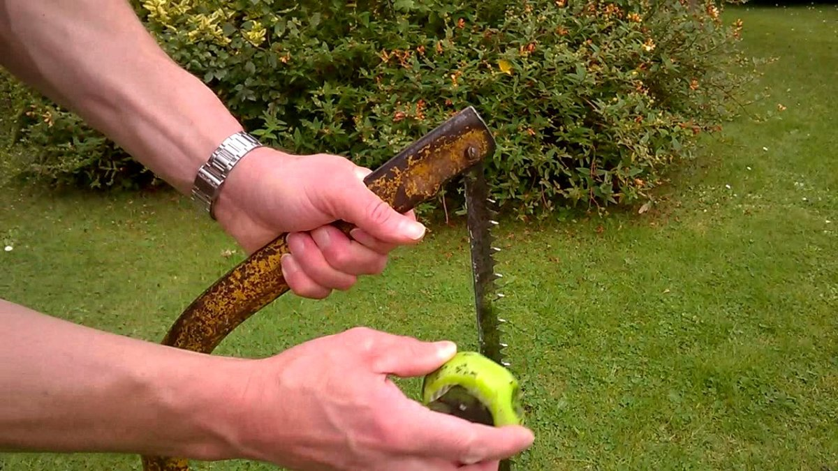Wax from an old candle is useful for lubricating a saw