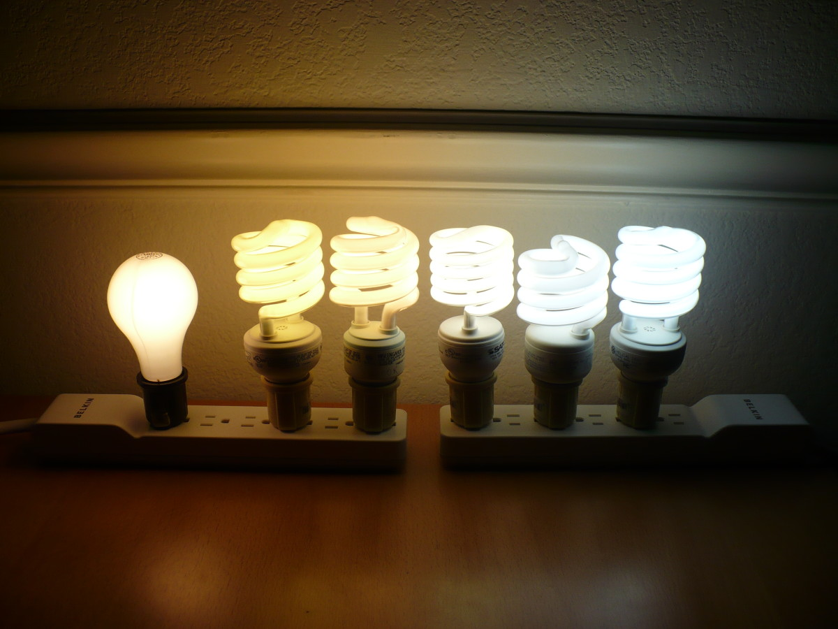 choosing lighting. various color temperatures from 2700k to 6500k choosing lighting g