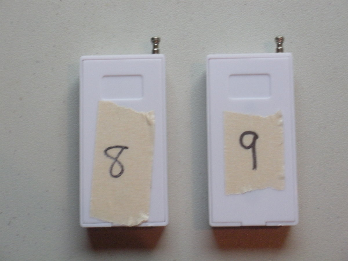Numbering the sensors helps you keep track of which ones have been programmed and makes it easier to place them around your home.