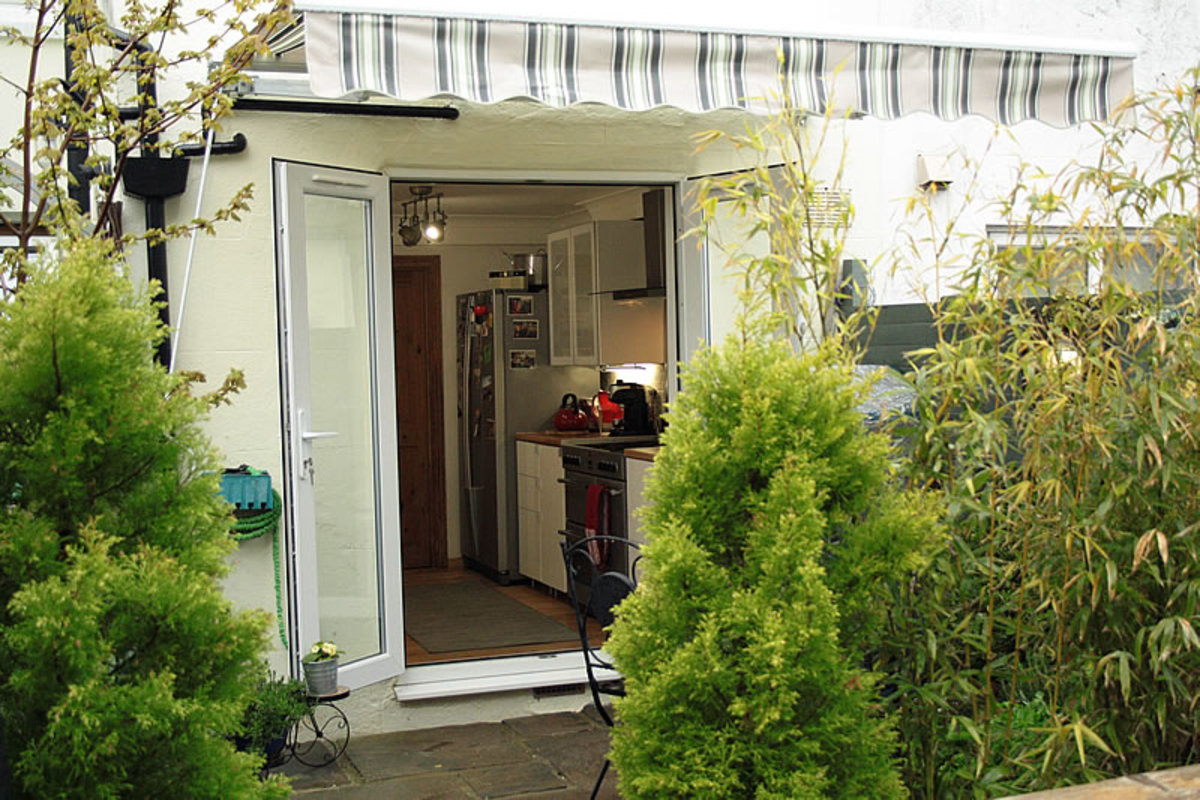 Awning outside the kitchen