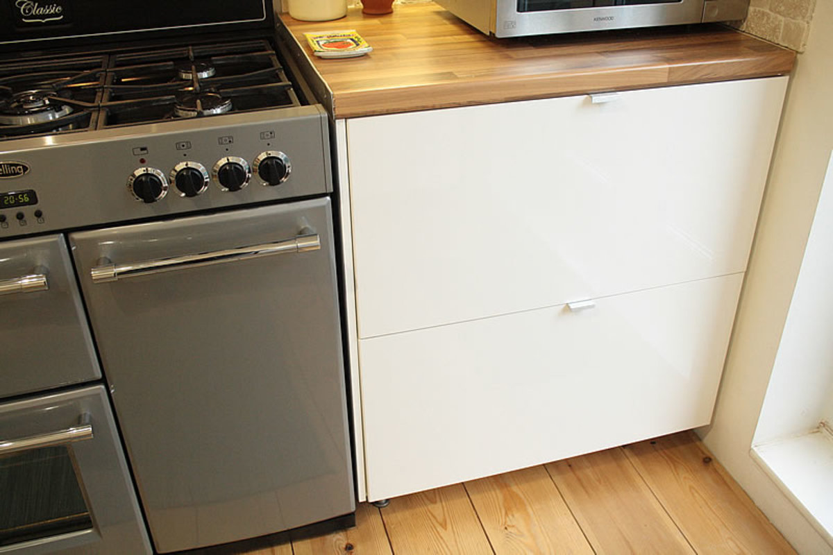 Floor unit next to the cooker