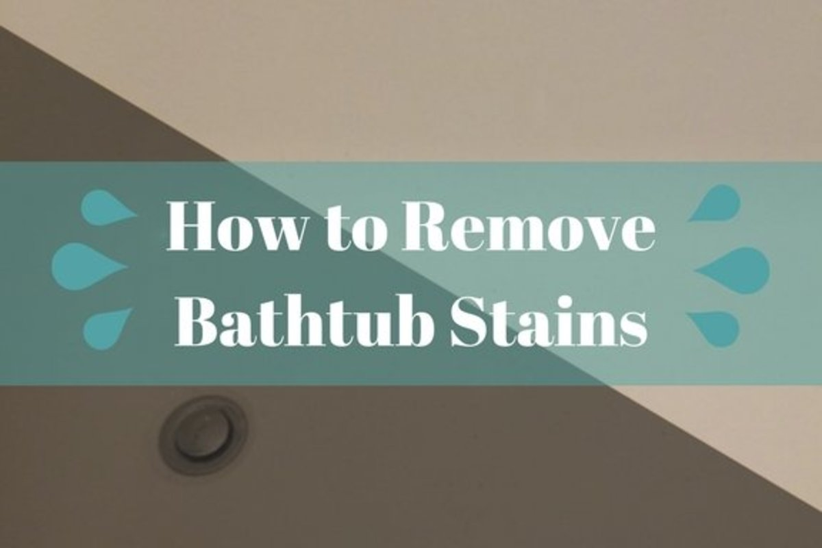 Learn how to correctly remove stains from your fibreglass/acryclic bathtub