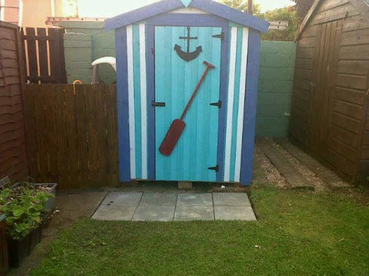 Learn how to paint your garden shed and wall with step by step instructions.
