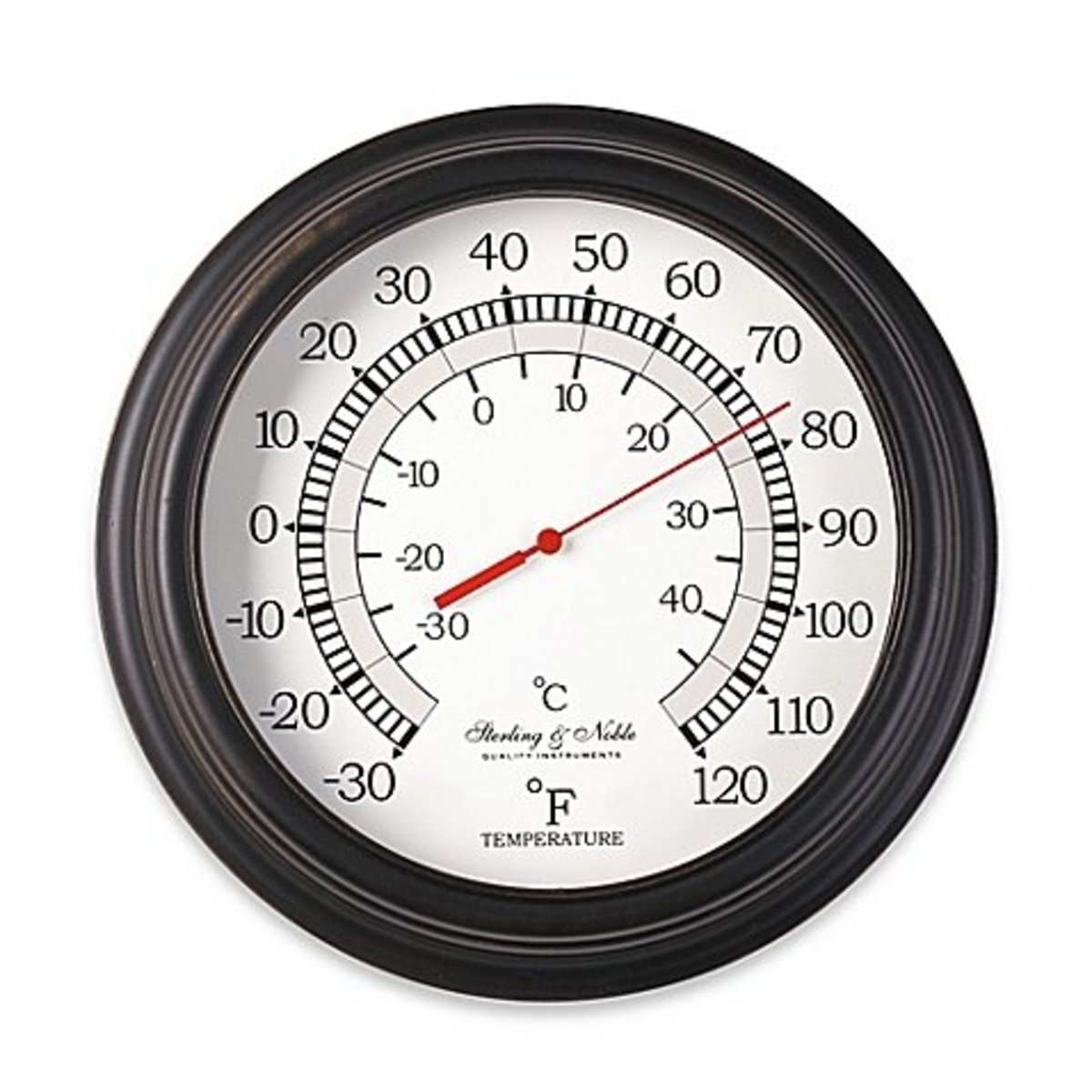 Outside temperature gauges and thermometers are easily obtainable.