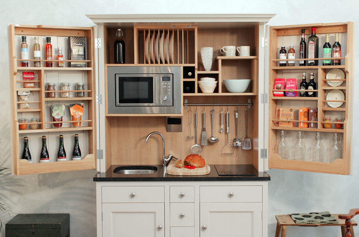 A compact kitchen is key in a small space.