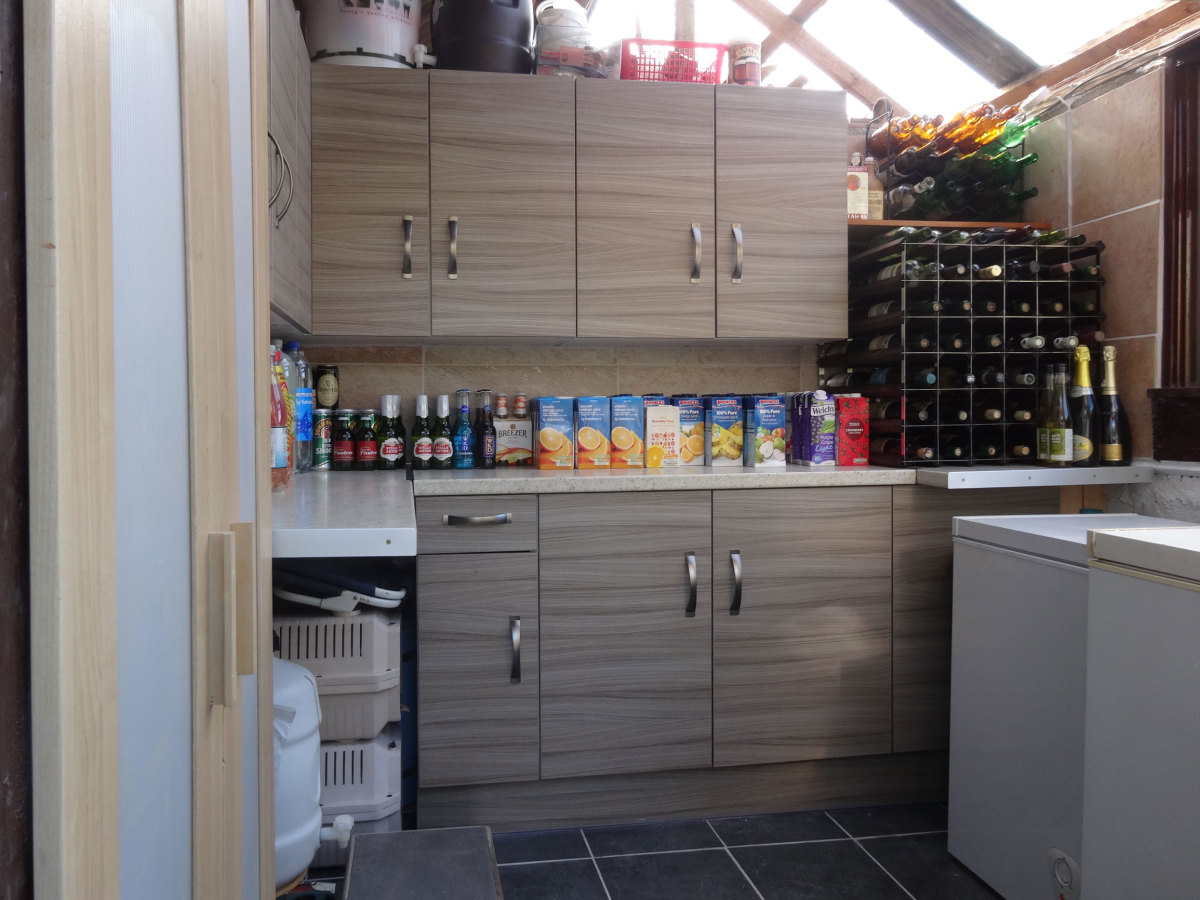 Renovating an old garden shed into a food store