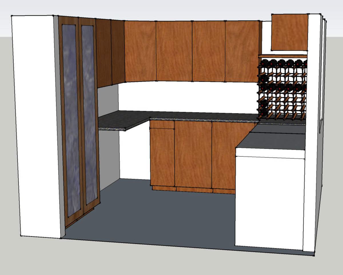 Side Elevation view of proposed food storage shed drawn to scale