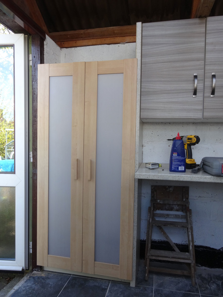 Recycled doors fitted in place