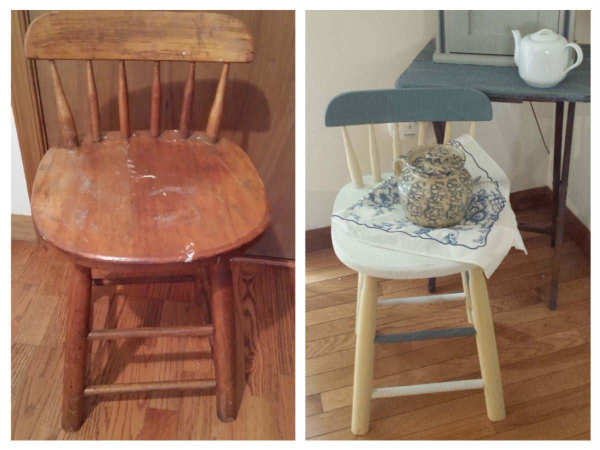 DIY Tutorial: How to Repurpose a Flea Market, Yard Sale, Thrift Shop, or Auction Find with Chalk Paint