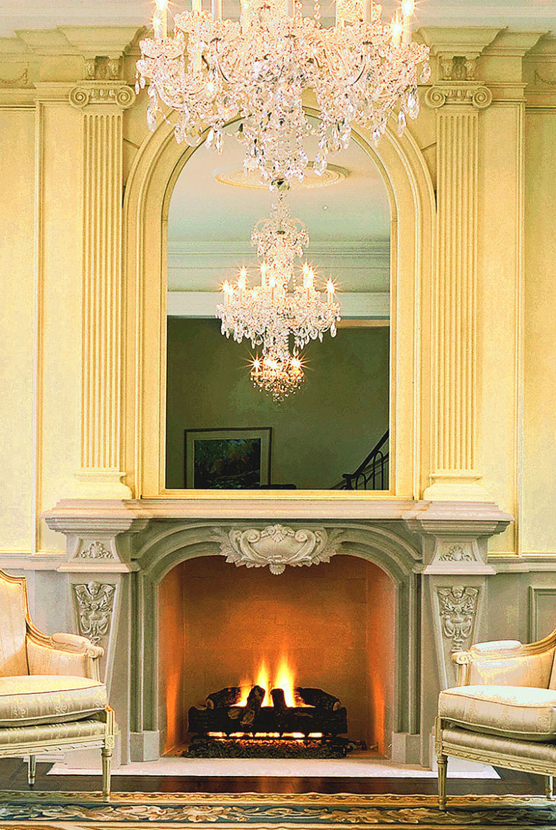 Baroque Style Fireplace Mantel