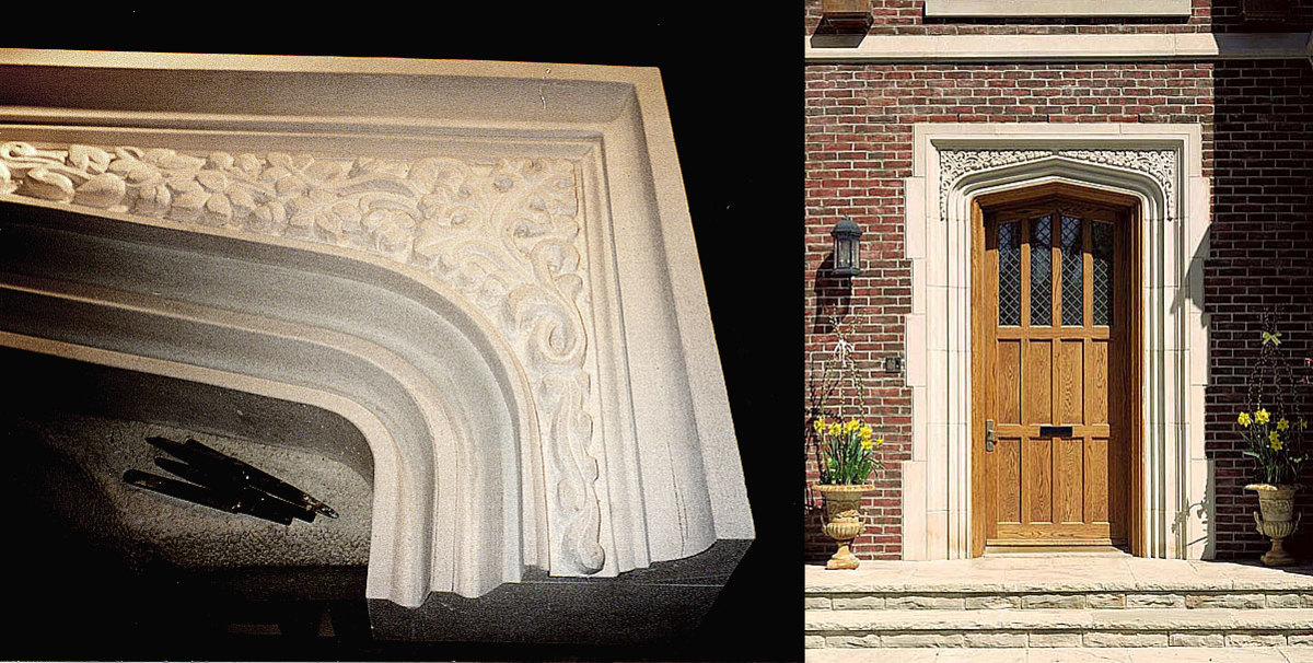 Tudor Arch Before & After Installation
