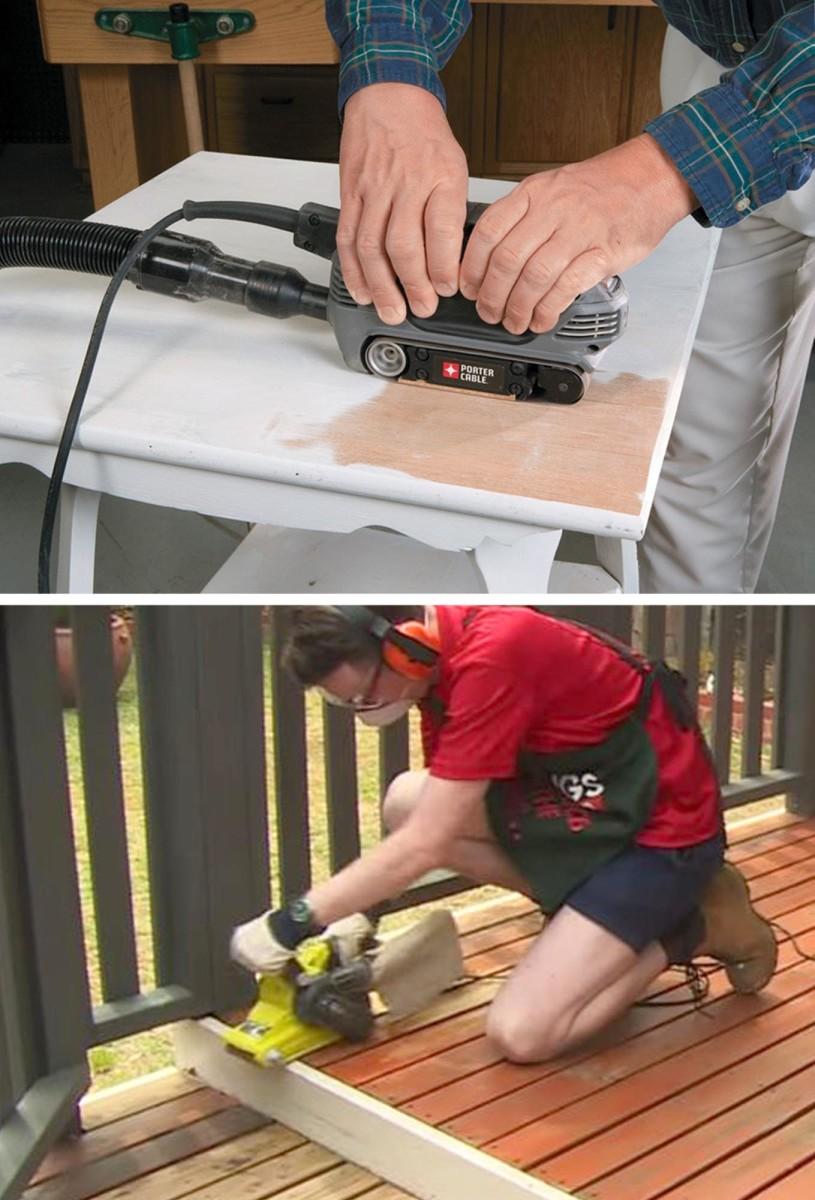 Some uses of a belt sander.