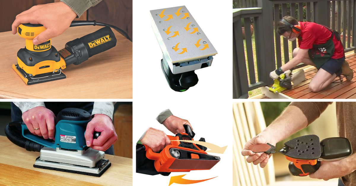 Some types of power sander.