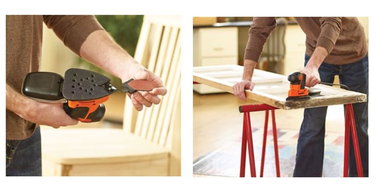 Detail sander from Black and Decker with replaceable tip.