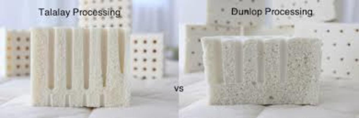 Dunlop vs Talalay methods with latex