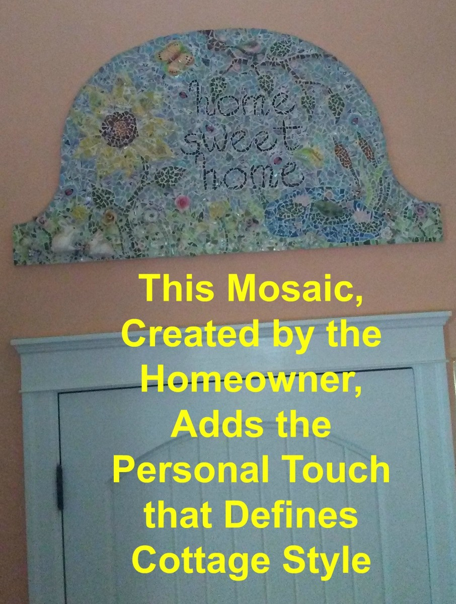 Having your children make mosaics for the house—stepping stones, bird baths, pots—really turns up the cottage charm.