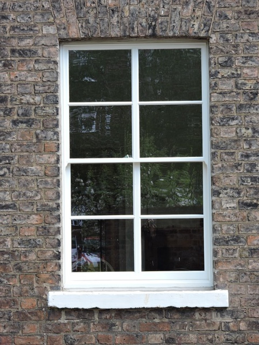 The rope on the inside of sash windows commonly contains asbestos