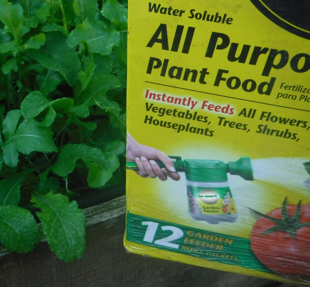 Plant food adds nutrition to soil.