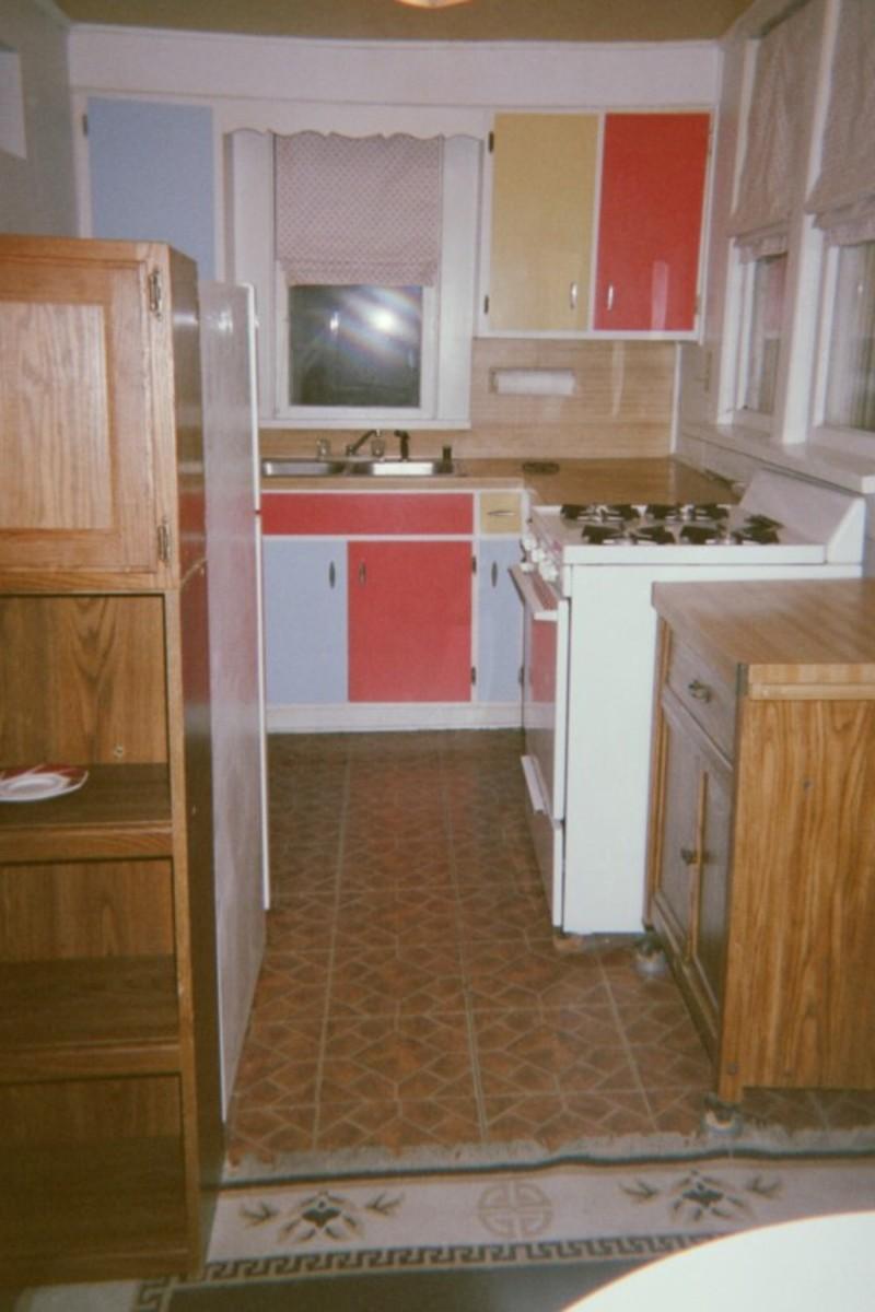 The upstairs apartment kitchen