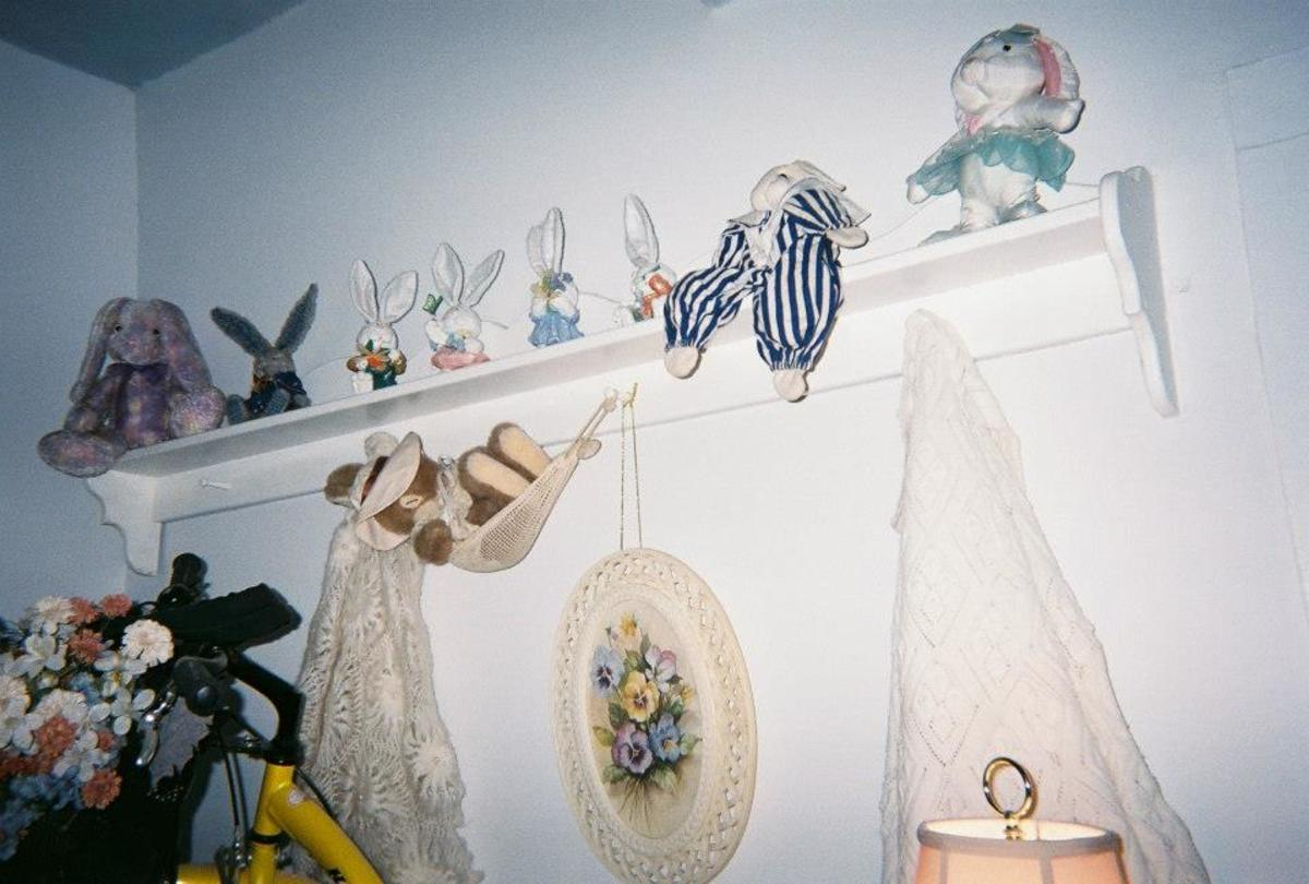 Bunny shelf. Notice how the shelf contains curves also.