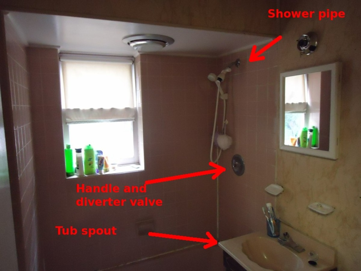 A typical shower layout.